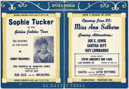Sophie tucker postcard