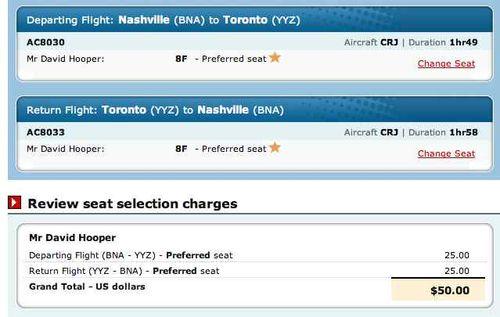 Preferred seat